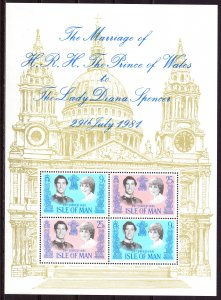 Isle Of Man. 1981. bl5. Princess Diana. MNH.