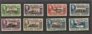 STAMP STATION PERTH -Falkland Is.Dep.#5L1-5L8-MNH Full Set OG VF CV$25.00