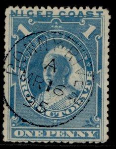 NIGERIA - Niger Coast Protectorate QV SG46c, 1d pale blue, FINE USED. CDS
