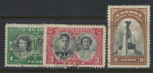 Canada SG 372 - 374 poor used see scan