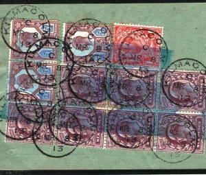 GB SCOTLAND TELEPHONES *Kilmacolm* CDS GPO Form KGV KEVII Franking 1913 K30c