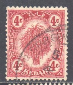 Malaya Kedah Scott 28 - SG29, 1921 Sheaf of Rice 4c used