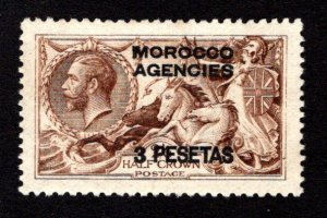 GREAT BRITAIN - OFFICES IN MOROCCO  SC# 55  VF/MNG