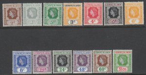 Leeward Islands, Scott 133-145 (SG 126-138), MLH