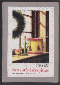 Season's Greetings USPS Postcard Puzzle (Scott 1843)