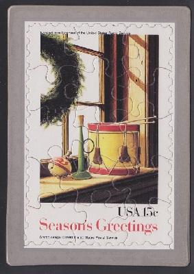 Season's Greetings USPS Postcard Puzzle (Scott 1843)