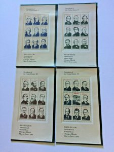 US,2216-19,PRESIDENTS,AMERIPEX 86,1986 COLLECTION,MINT NH VF