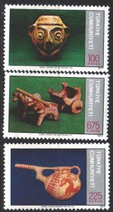 Turkey. 1977. 2420-22. Archaeological artifacts. MNH.