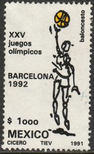 MEXICO 1686 Olympic Basketball - Barcelona Games Used (1281)
