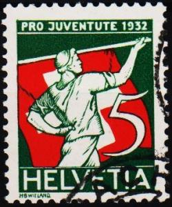 Switzerland.1932 5c S.G.J60  Fine Used