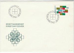 Liechtenstein 1967 FDC Multiple cancel Stamps Cover ref R 18677