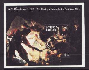 Antigua-Sc#1761-unused NH sheet-Art-Rembrandt Painting-1993-