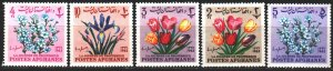 Afghanistan. 1964. 859a-63a from the series. Flowers, flora. MNH.