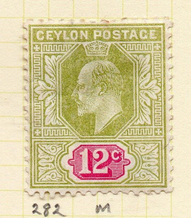 Ceylon 1904-05 Early Issue Fine Mint Hinged 12c. 263412