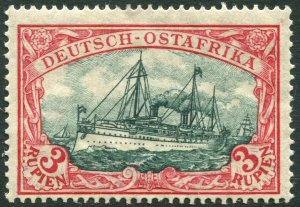 GERMAN EAST AFRICA-1905-20 3r Blue-Black & Red Sg 44 UNMOUNTED MINT V35077