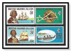 Solomon Islands #228-231 Explorers MNH