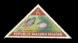 REPUBLIC OF SOUTH MALUKU STAMP. TOPIC: FISH. UNUSED. ITEM 7.5K