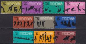 Mexico #990-95, C335-8  MNH  CV $15.45 (A19016)