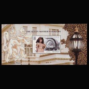 TUVALU 1999 - Scott# 809 S/S Queen Mother NH