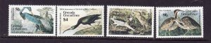 Grenada Grenadines-Sc#732-5-unused NH set-Birds-Audubon-1986-