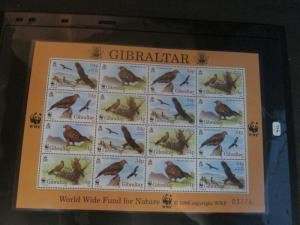 Gibraltar 1996 Sc 716 Bird set MNH