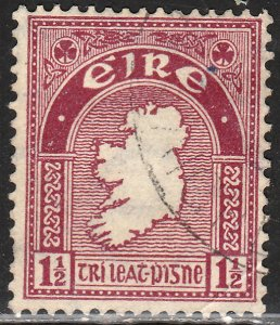 IRELAND 67, MAP OF IRELAND. USED  VF. (436)