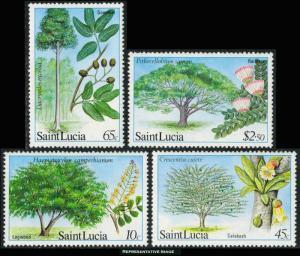 Saint Lucia Scott 649-652 Mint never hinged.