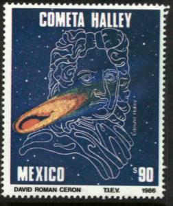 MEXICO 1437, Halleys Comet MINT, NH. F-VF.