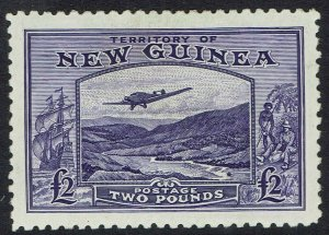 NEW GUINEA 1935 BULOLO AIRMAIL 2 POUNDS