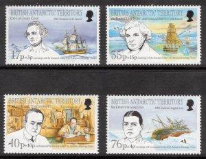 BRITISH ANTARCTIC 1994 Antarctic Heritage Trust; Scott B1-4, SG 246-48; MNH