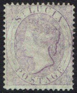 ST LUCIA 1864 QV (6D) WMK CROWN CC PERF 14
