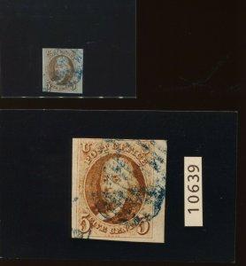 Scott #1b Franklin Imperf Used Margin Stamp with PSE Cert (Stock 1-202)