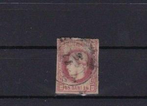 ROMANIA 1869 15 BANI USED IMPERF STAMP  R3912