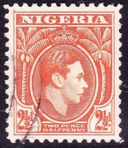 NIGERIA 1941 KGVi 2.5d Orange SG52b Used