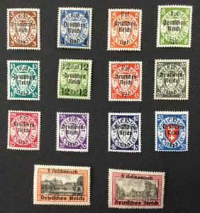 (BJ Stamps) DANZIG, 241-254, 1939 set of 14, FVF, OG, MNH. CV $190.00