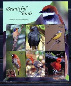 PALAU 2019  BEAUTIFUL BIRDS SHEET OF SIX  MINT NEVER HINGED