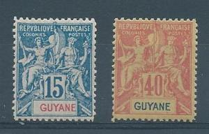 French Guiana 39, 45 Rare Fournier Forgeries Reference