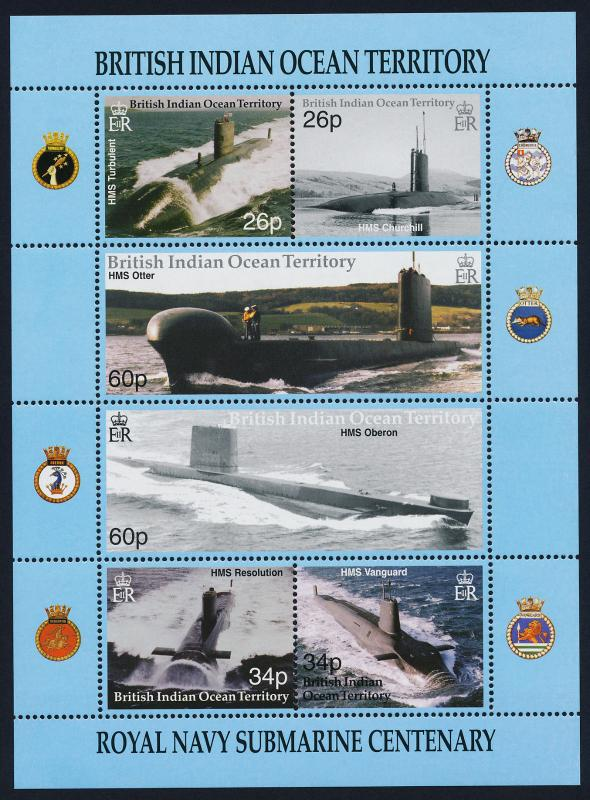 British Indian Ocean Terr 230 MNH Submarines