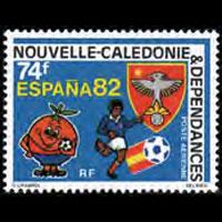 NEW CALEDONIA 1982 - Scott# C185 W.Cup Soccer Set of 1 NH