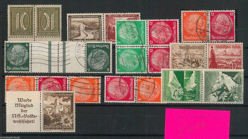 GERMANY  Deutschland -  POSTAL HISTORY - LOT of STAMPS: TETE-BECHE & se-tenant