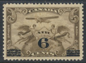 Canada  SG 313 MH  AIR  OPT Surcharge 6 on 5c  SC# C3   see detail and scans