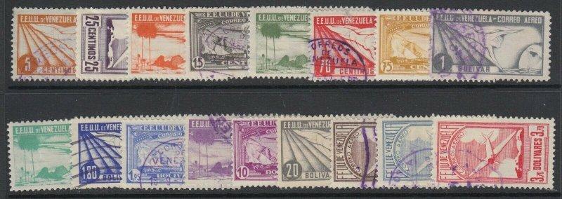 Venezuela, Scott C47-C63, used (few low values mint, C53 thin)