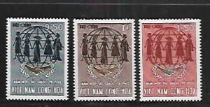 VIETNAM, 255-257, MNH,INTL. COOPERATION YEAR