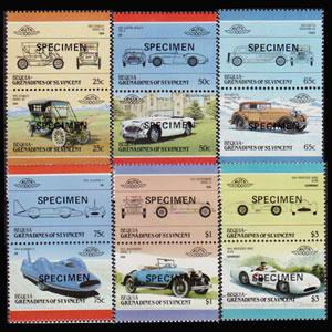 ST.V.BEQUIA 1986 - Scott# 97-126 Cars Specimen Set of 12 NH