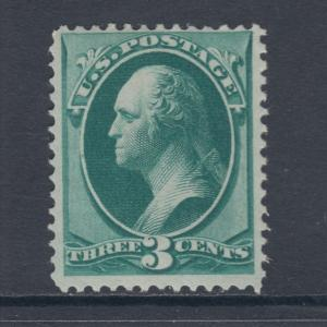 US Sc 158 MNH. 1873 3c green Washington F-VF