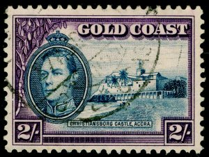 GOLD COAST SG130a, 2s blue & violet, FINE USED. Cat £21.