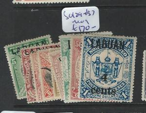 LABUAN (P2201B) 4 CENTS SURCH SET SG129-137  MOG