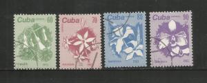 CUBA – 1961 – FLOWERS - #2659-2662 – SET OF 4 – USED/CTO