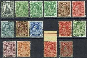 TURKS & CAICOS ISLANDS 1922 KGV CACTUS 1/4D TO 2/- PLUS SHADES WMK MULTI SCRIPT
