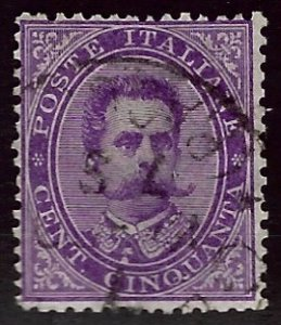 Italy SC#50 Used F-VF SCV$22.50...Worth a Close Look!